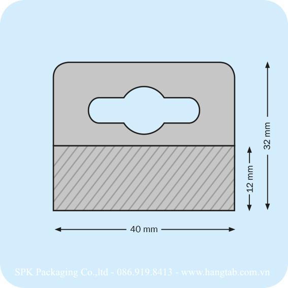 Thẻ treo lỗ euro bằng nhựa dán băng keo 2 mặt