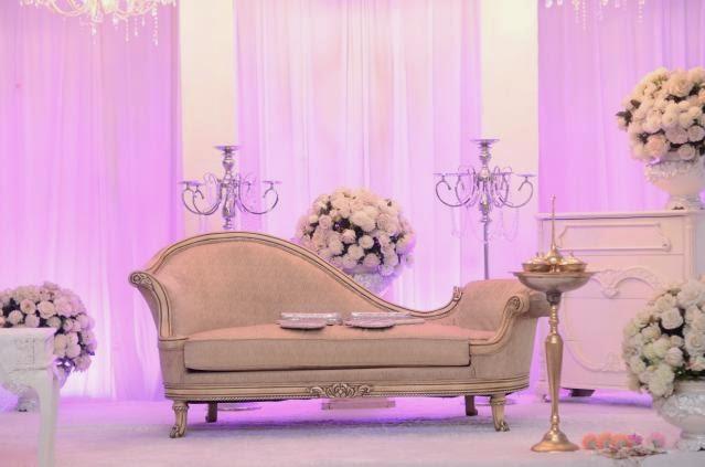 pink drape bouquet