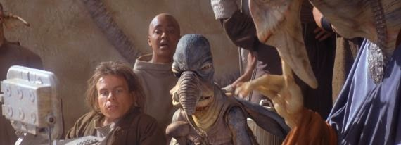 Warwick Davis as Weazel in Phantom Menace
