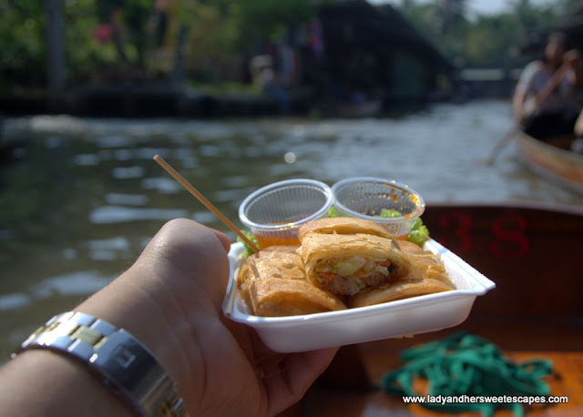 Thai Food in floating market
