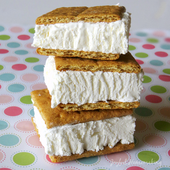 Cool Whip Graham Cracker Sandwiches from Joyful Homemaking