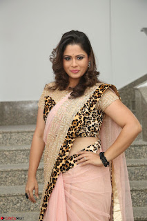 Shilpa Chakravarthy in Lovely Designer Pink Saree with Cat Print Pallu 023.JPG