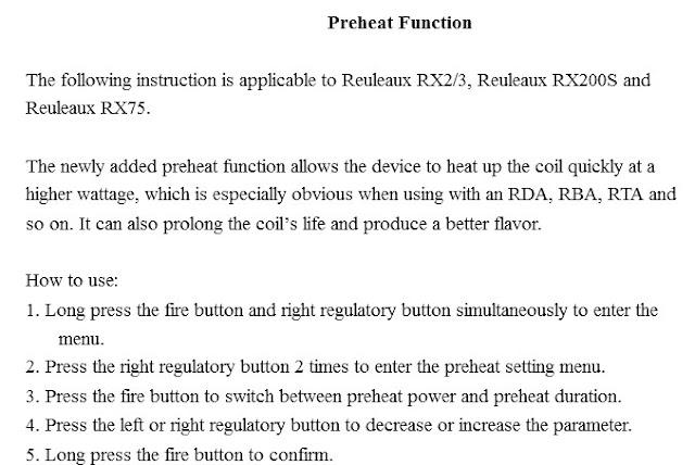 Cara mengaktifkan fitur preheat pada Mod electrical