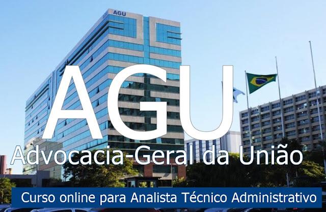 Curso online AGU - Analista Técnico Administrativo 2018