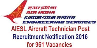 AIESL Aircraft Technician Recruitment 2016