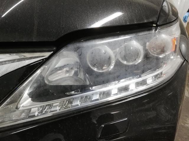 レクサス/RX450h FSPORT ヘッドライトの劣化+くすみ復元リペア