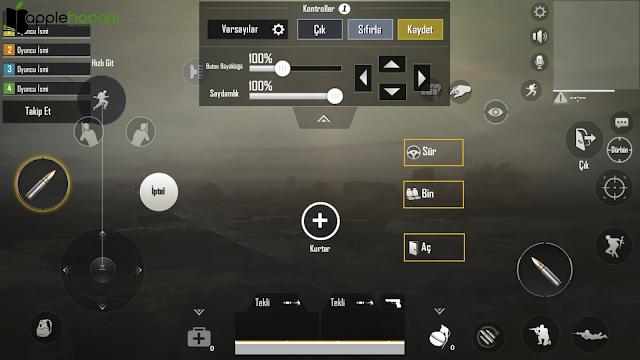 Pubg-Mobil-Donma-Sorunu-kontroller-özellestir