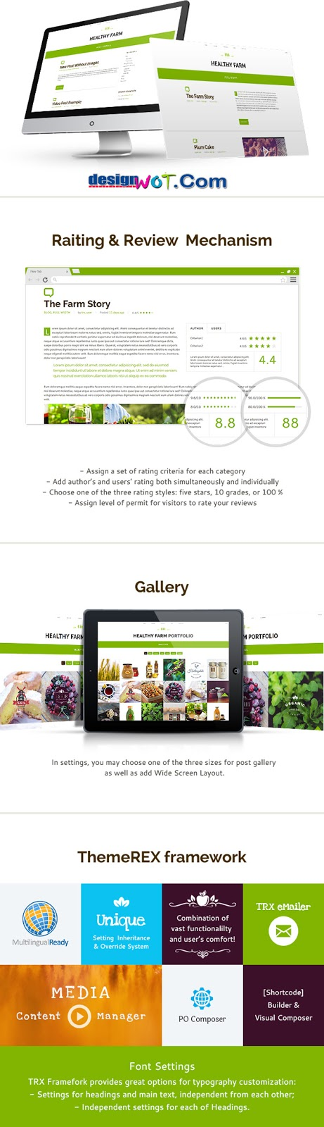 Healthy Farm Food and Agriculture WordPress Theme