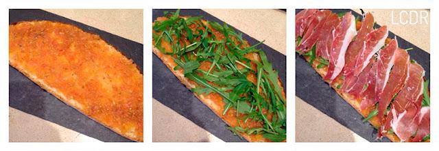 Receta de tosta de rúcula, jamón y mozzarella 02