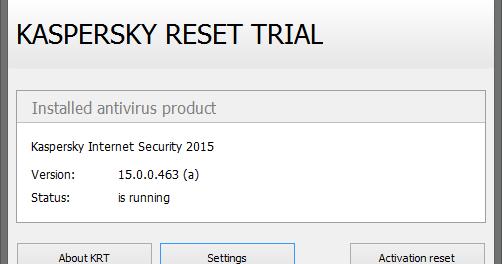 Latest Kaspersky Reset Trial 5 0 0 111 Beta (Trial Resetter)
