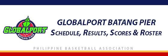 PBA: Globalport Batang Pier Schedule, Results, Scores, Roster