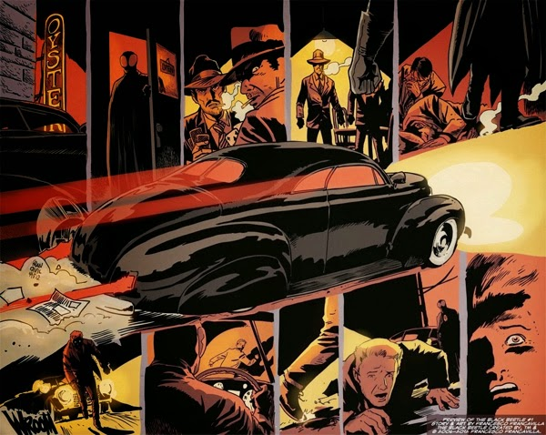 "Paginas de The Black Bettle nº1 ""Sin Salida"", de Francesco Francavilla"