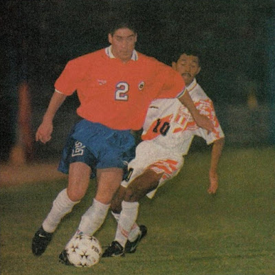 Chile y Perú en partido amistoso, 14 de febrero de 1996