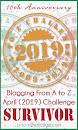 AtoZChallenge 2019 Survivor Badge