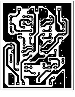 PCB & Layout Rangkaian Noise Gate untuk Audio