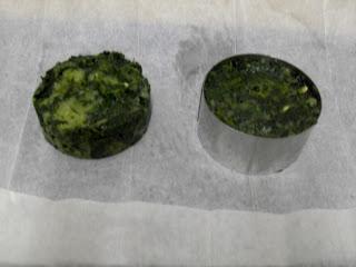 Espinacas con patatas en moldes