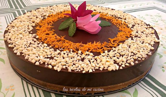 Tarta de cuajada con chocolate