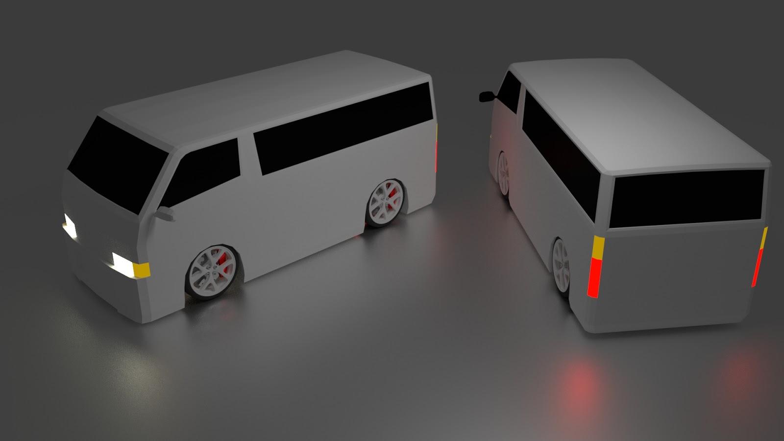 Free 3D Mini Bus .blend file