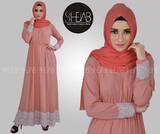 Inilah 10 Gambar Terbaru Baju Muslim Brokat Sifon Update