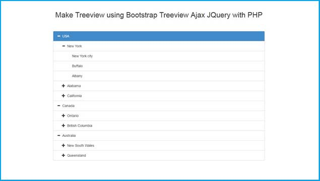 Make Treeview using Bootstrap Treeview Ajax JQuery with PHP