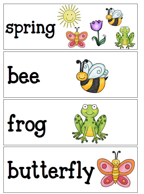 Spring Vocabulary Pictures 24