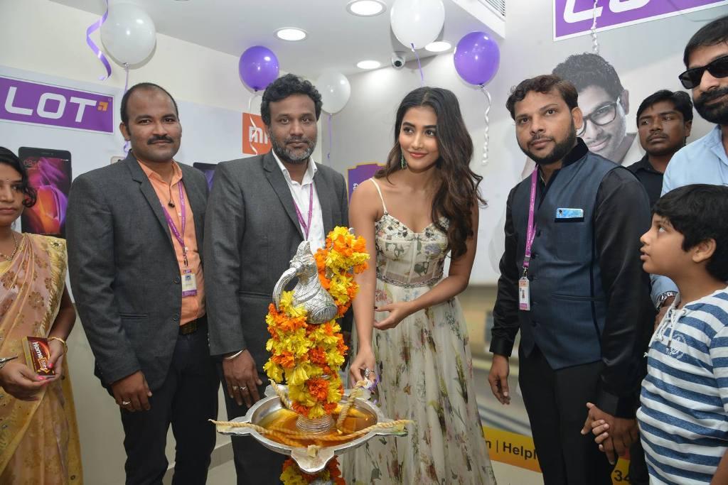 Pooja Hegde at LOT Mobile Store Inauguration At Vijayawada