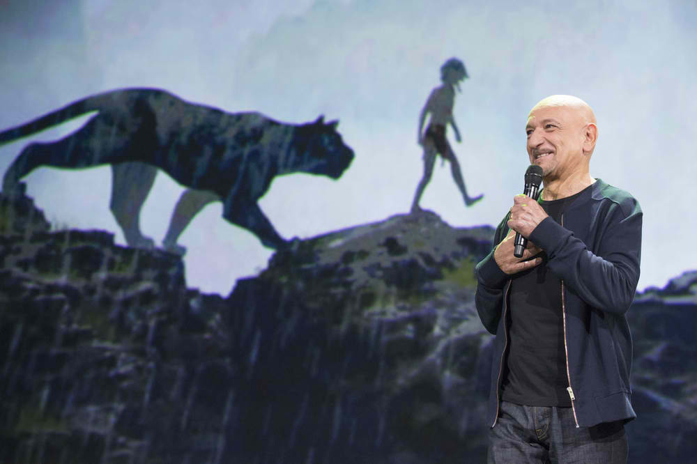 "Ben Kingsley is the Voice of Panther, Bagheera, in ""The"
