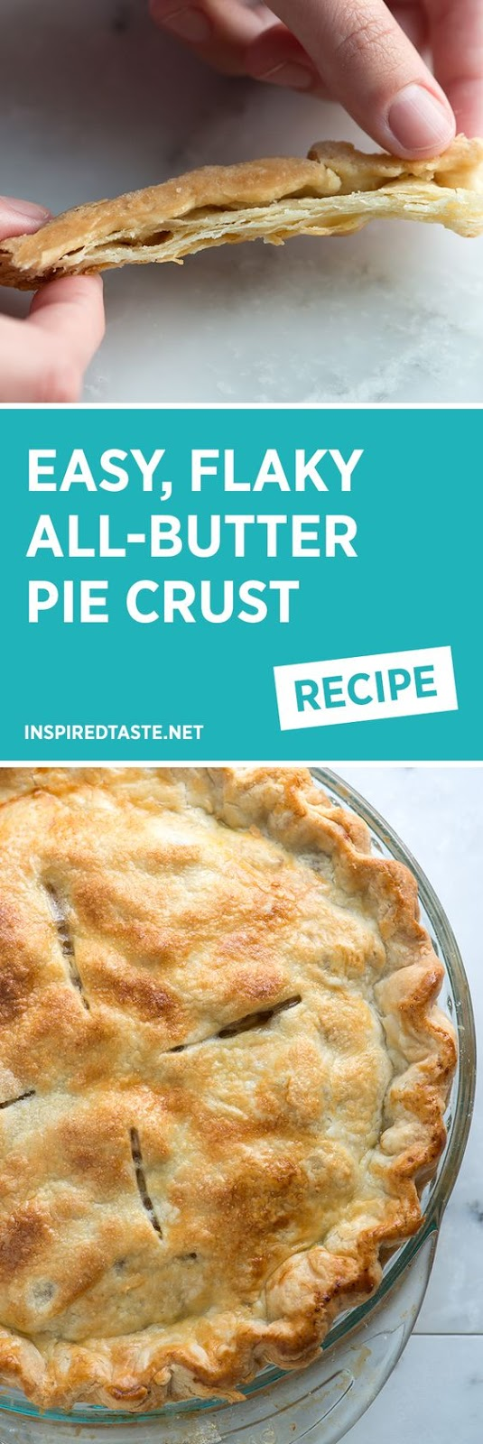 Easy All-Butter Flaky Pie Crust Recipe