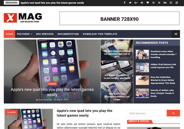 XMag Blogger Theme