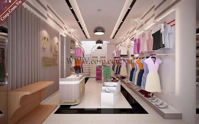 thiết kế cửa hàng thời trang công sở sang trọng