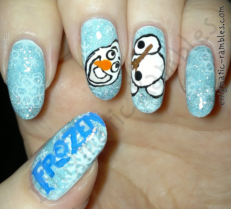disney-disneys-frozen-olaf-snowman-snowflakes-freehand-stamped-moyou-london-festive-collection-03