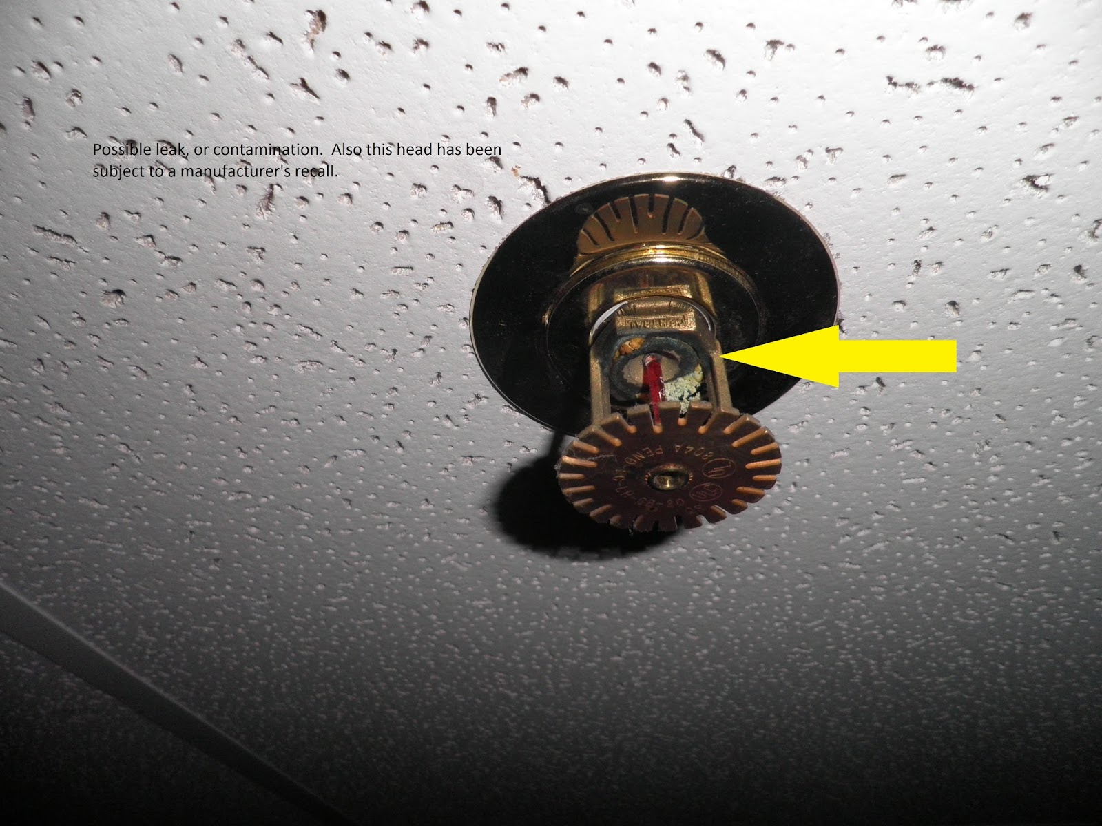 Fire Protection Deficiencies: Corroded Fire Sprinkler Heads