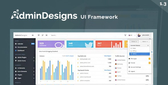 Admin Design Templates Free Download