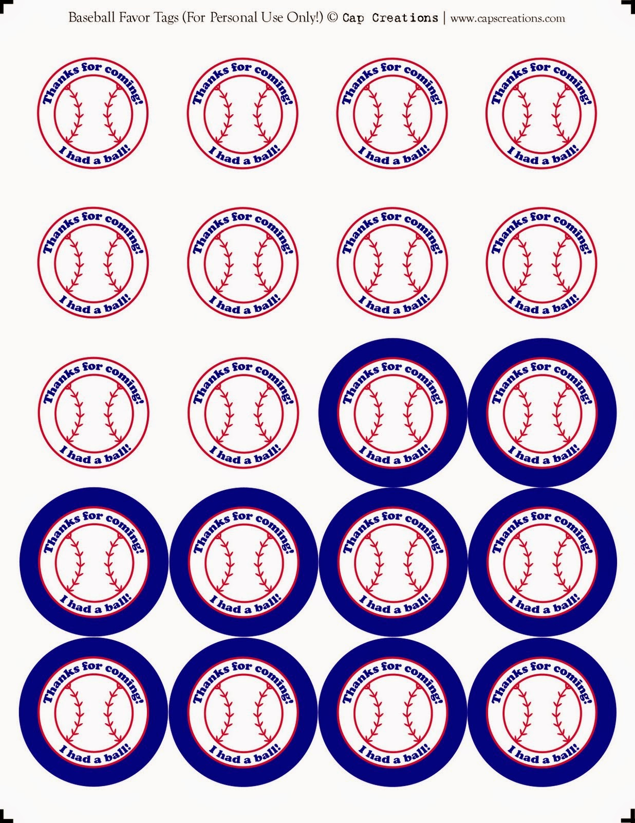 Baseball Mini Kit. | Ideas y material gratis para fiestas y ...