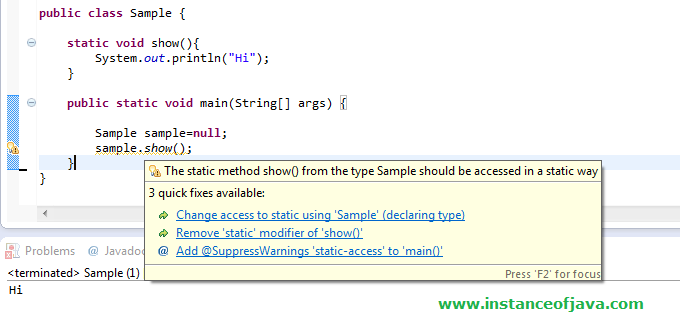 static method in java interview questions
