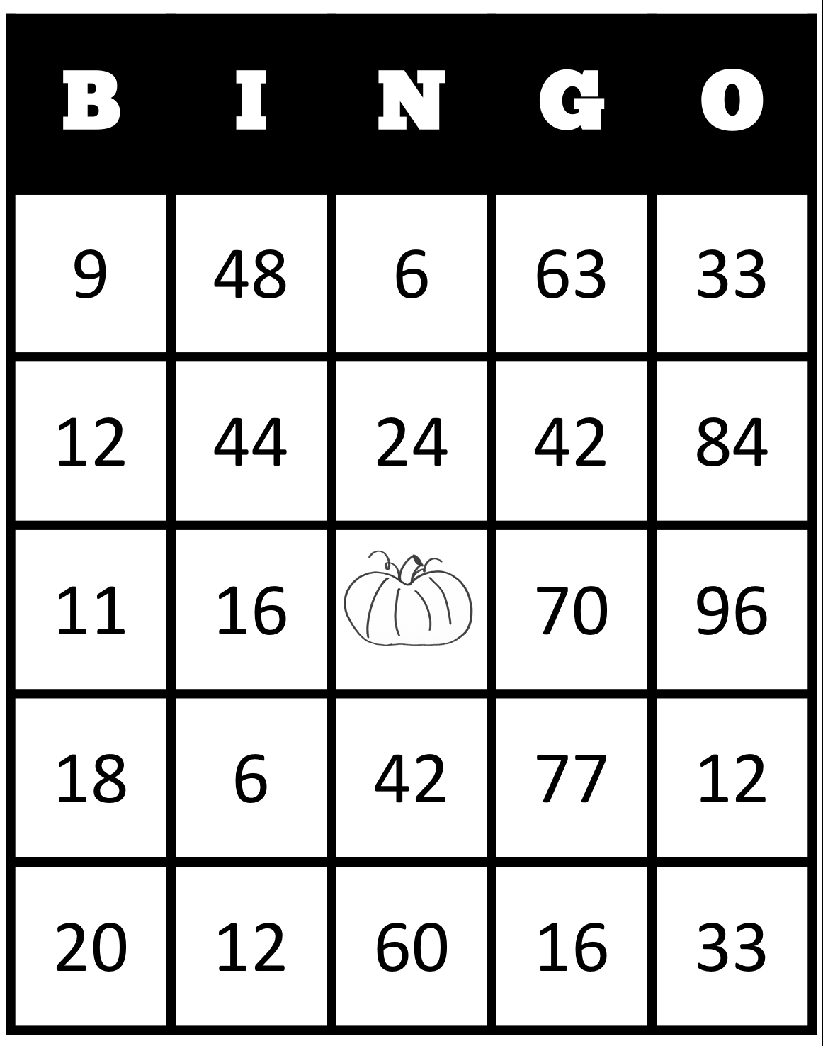 Instructional Materials by Elizabeth Chapin-Pinotti: Pumpkin Bingo ...