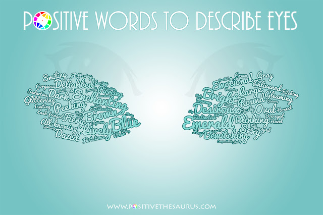 positive words to describe eyes word cloud