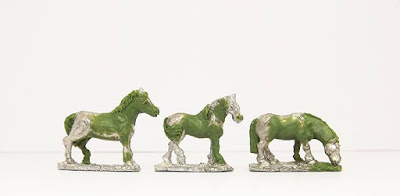 Bare horses x 3: