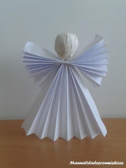 Angel navidad chupa-chups papel plegado