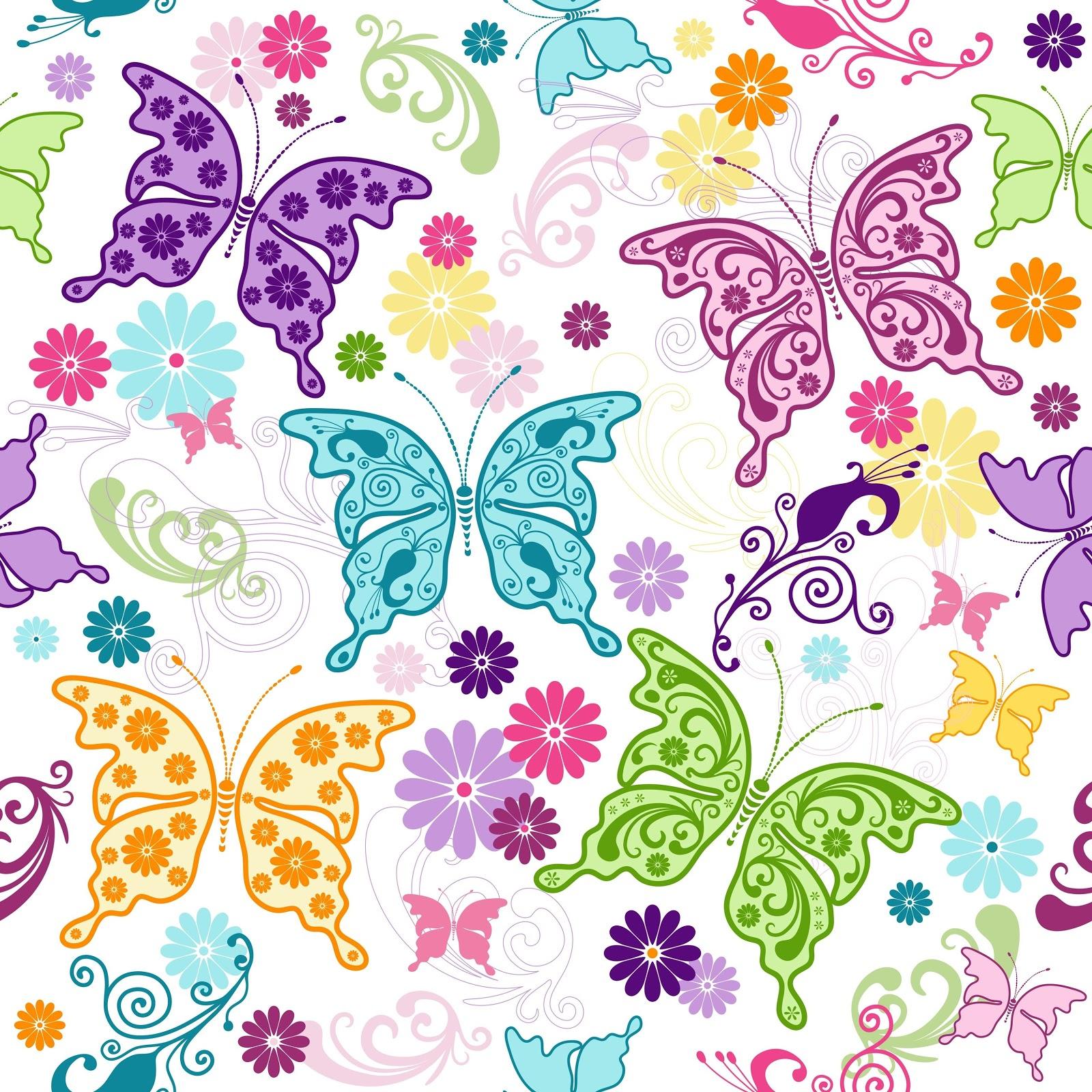 Imprimibles y fondos gratis de mariposas ideas y - Plantillas decorativas infantiles ...