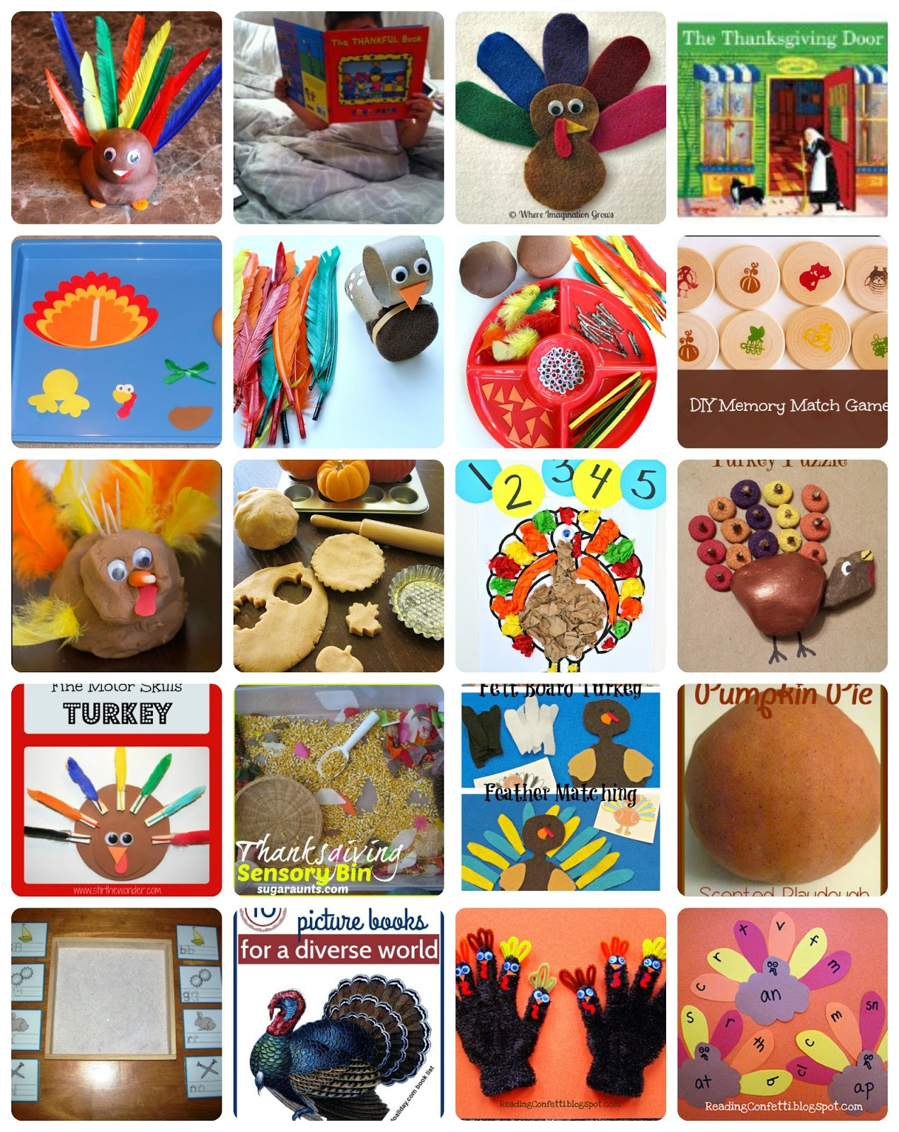 50 Thanksgiving Crafts And Activities Kid S Co Op