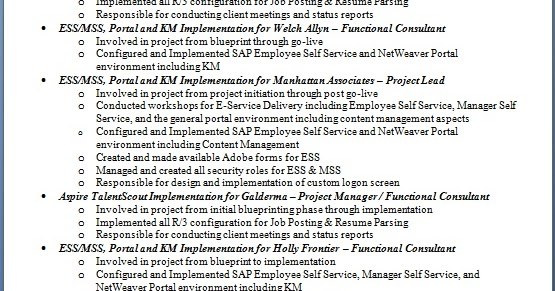 ess mss consultant sample resume format in word free download
