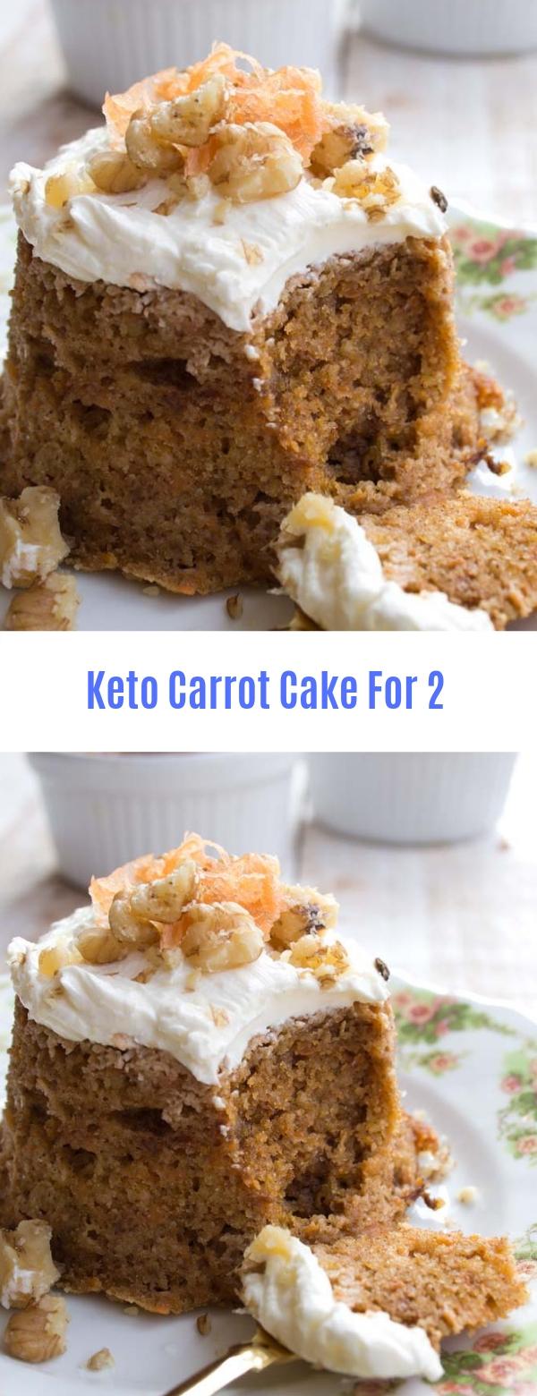 Keto Carrot Cake For 2