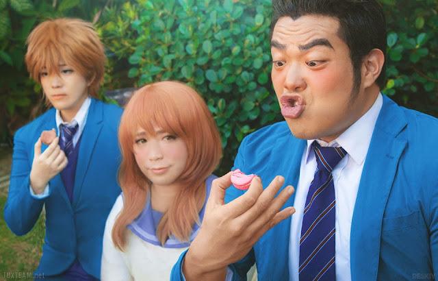 Cosplay Gouda Takeo, Yamato Rinko i Sunakawa Makoto z Ore Monogatari!!