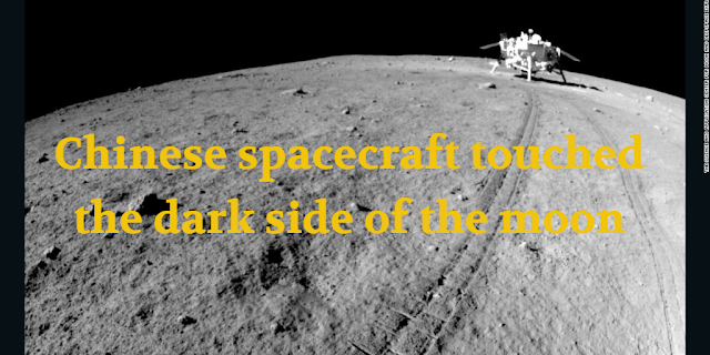 Chinese spacecraft touched the dark side of the moon