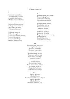 Naskah asli lagu indonesia raya sebelum di ubah
