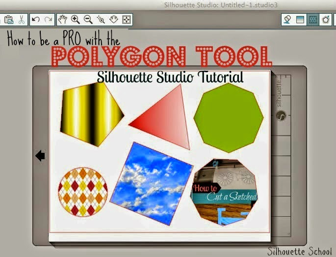 Silhouette Studio, polygon tool, use