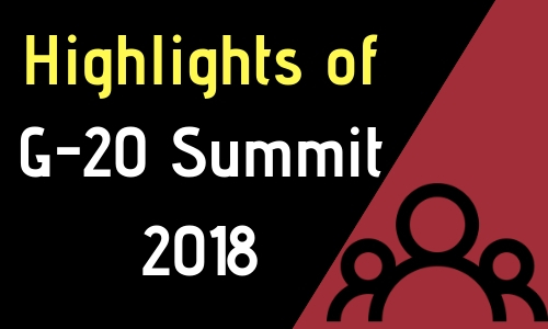Highlights of G-20 Summit 2018