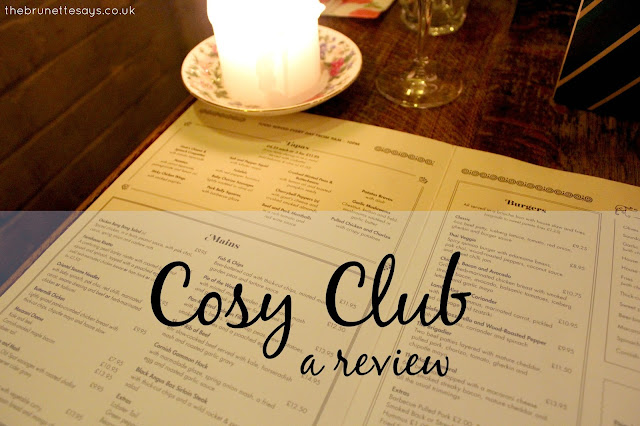 cosy club, food, drink, review