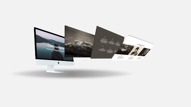 Perspective iMac Screen Mockup Free PowerPoint Template Slide 3